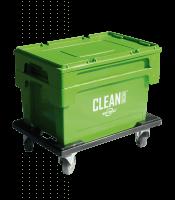 CLEAN BOX med låg, kurv og hjulsæt